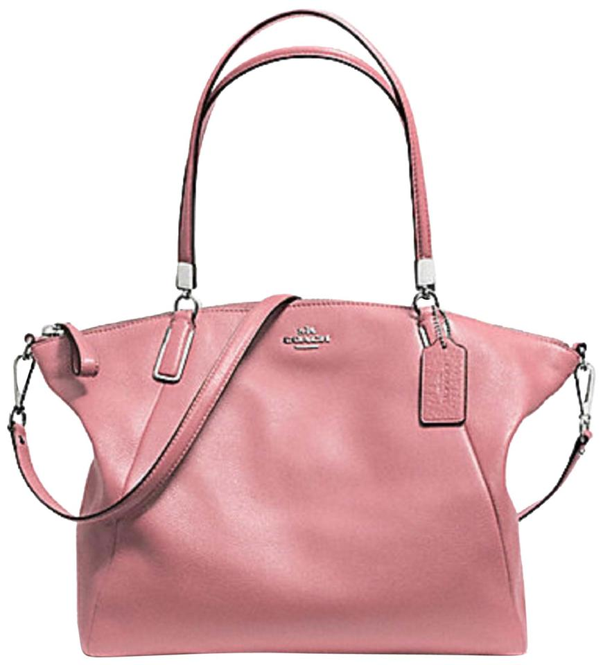 1bff47f2787 Coach Kelsey F34494 Pebble Shadow Rose Blush Leather Satchel 57% off retail