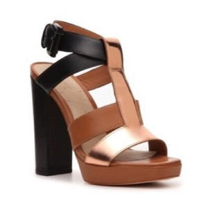 Elizabeth and James black, tan, rosegold Sandals