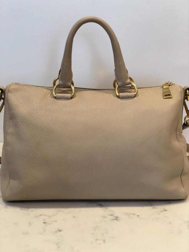 9ca72c2e7334 Prada Vitello Daino Top Handle Sabbia   Beige Calfskin Leather Tote ...