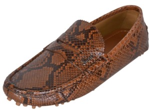 Gucci Men's Drivers Snake Rust Brown Flats