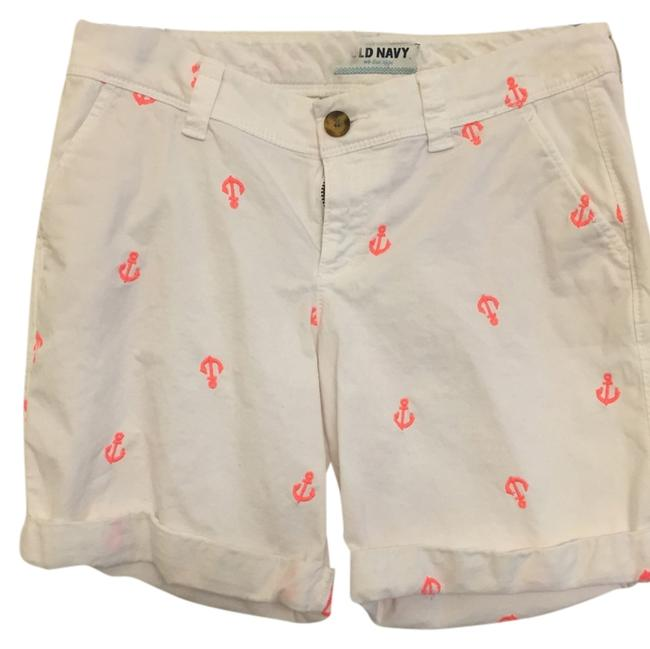 Old Navy Cuffed Shorts White