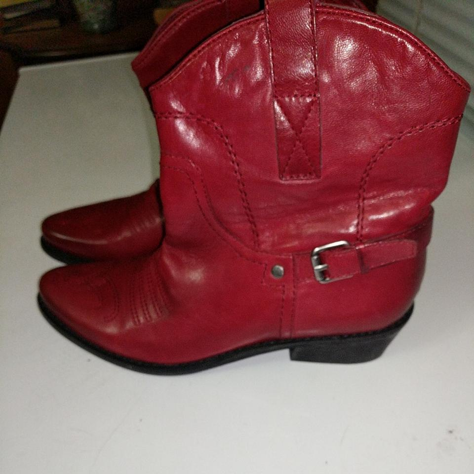 ladies Sarto Franco Sarto ladies Red Cowboy Boots/Booties uppers 848366