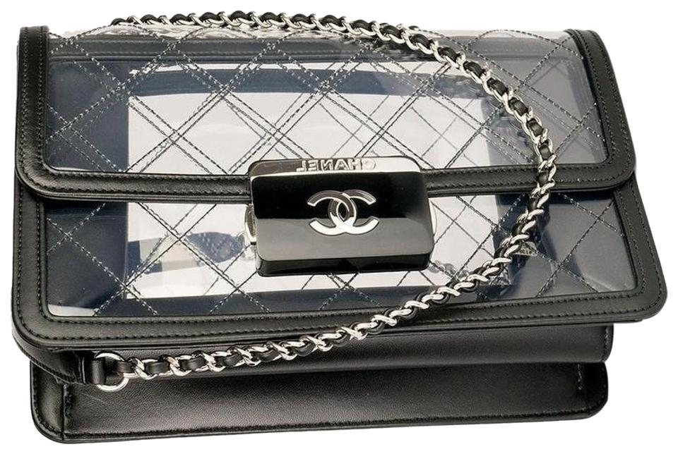 d5365c1c4269 Chanel Classic Flap Naked Beauty Lock Clear Transparent Lambskin and ...