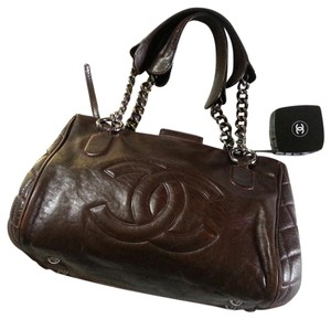 Chanel Quilted Vintage Leather Satchel in brown