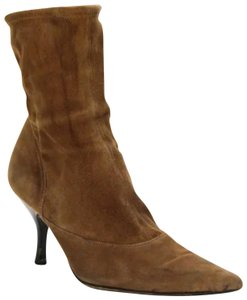 Sergio Rossi Light Suede Suede Brown Boots