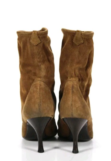 Sergio Rossi Light Suede Pointed Toe Brown Boots