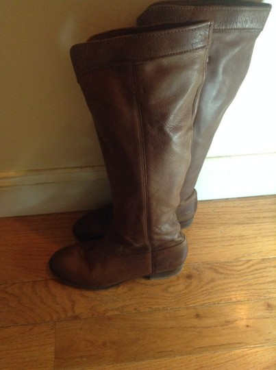 Frye Boho People Western Riding Leather Cognac Brown Boots
