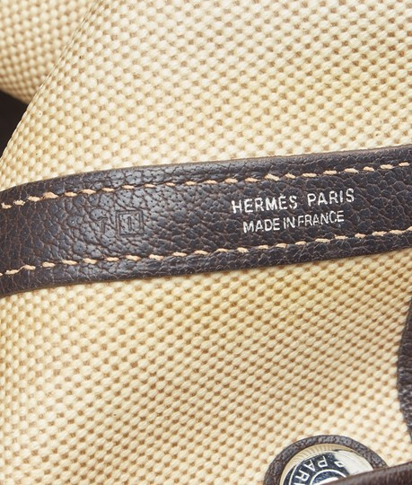 Hermès Canvas Tote in BeigexBrown