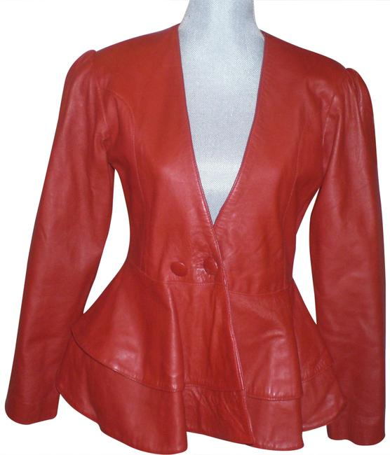 Preload https://item2.tradesy.com/images/red-two-steps-peplum-leather-jacket-size-8-m-23007291-0-1.jpg?width=400&height=650