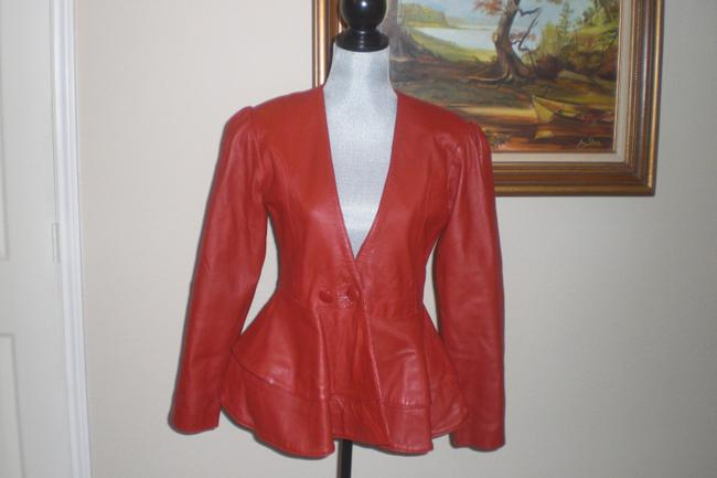unknown red Leather Jacket