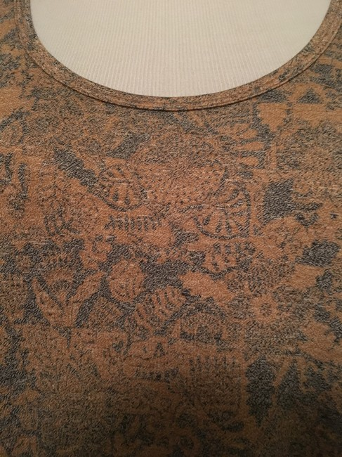LuLaRoe Perfect T Top Gold and blue