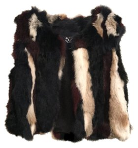 525 America Rabbit Fur Rabbit Oxblood Black Vest