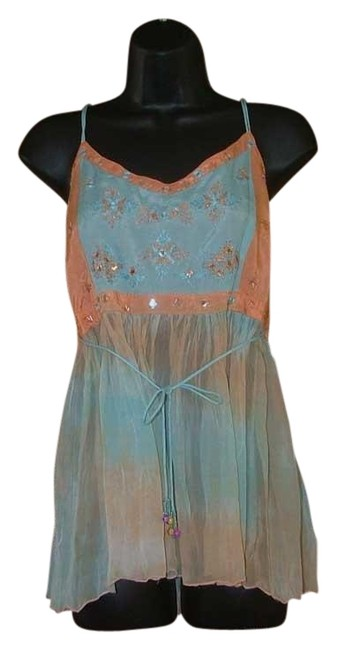 Preload https://img-static.tradesy.com/item/23007352/etcetera-creamsicle-cute-dip-dye-summer-gypsy-embroidered-s-blouse-size-6-s-0-1-650-650.jpg