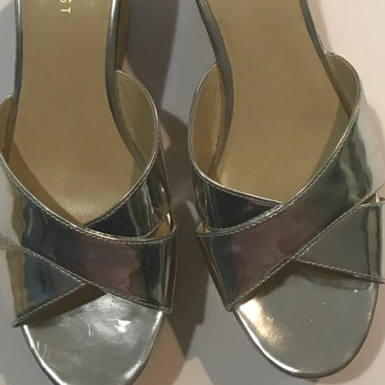 Nine West Silver Wedges
