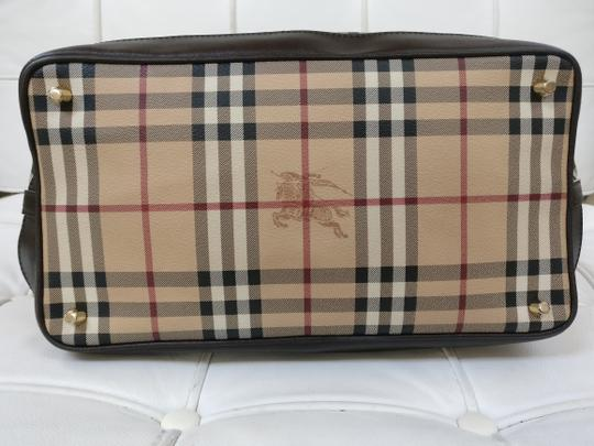 Burberry Tote Check Satchel Cross Body Bag