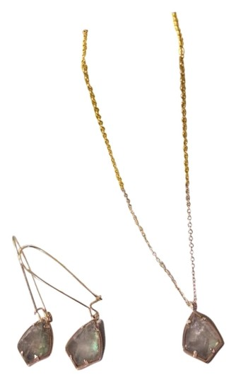Preload https://item1.tradesy.com/images/kendra-scott-gray-and-rose-gold-set-earrings-in-crystal-illusion-necklace-23007370-0-9.jpg?width=440&height=440