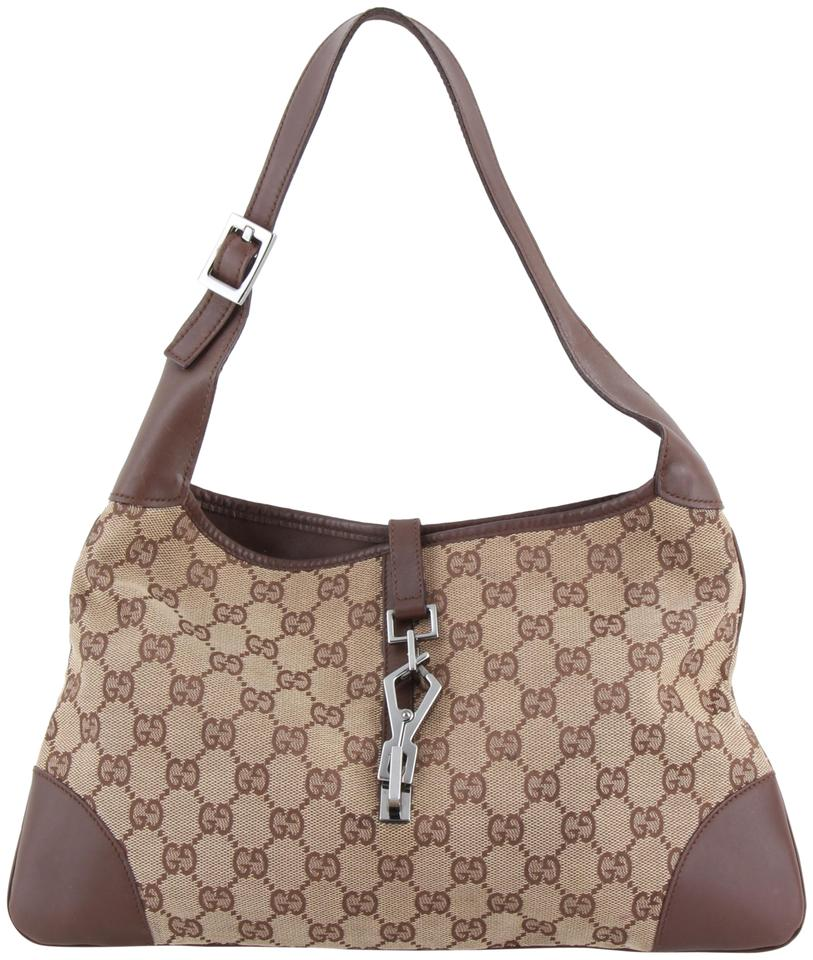 2004836be3e52f Gucci Hobo Jackie Classic Gg Monogram Signature Brown Canvas ...