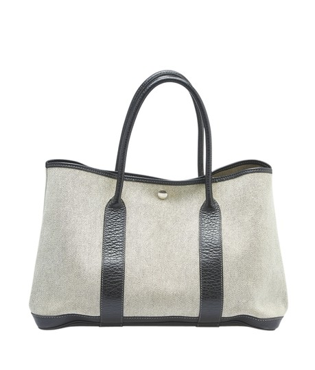 Preload https://item5.tradesy.com/images/hermes-garden-party-30-pm-black-leather-145213-xbeige-canvas-tote-23007394-0-0.jpg?width=440&height=440