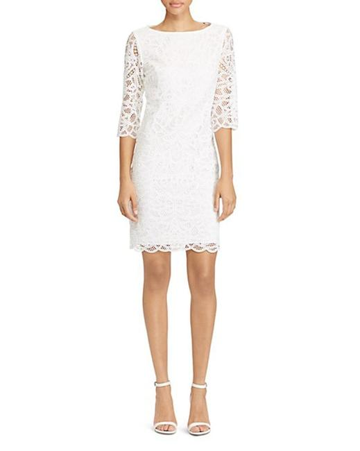 Preload https://item5.tradesy.com/images/lauren-ralph-lauren-white-by-scallop-lace-mid-length-cocktail-dress-size-6-s-23007399-0-0.jpg?width=400&height=650