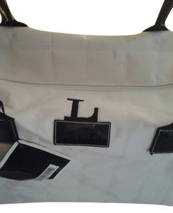 Givenchy white with black piping Travel Bag