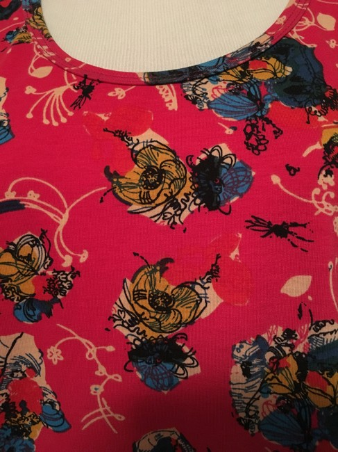 LuLaRoe Perfect T Floral Top Pink