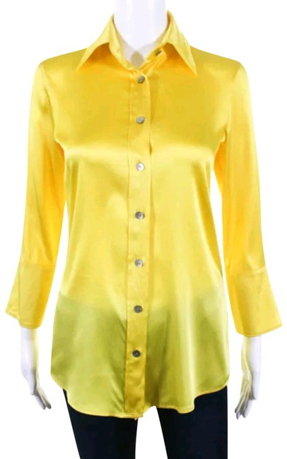 Preload https://item4.tradesy.com/images/ramy-brook-yellow-silk-collared-long-sleeve-button-down-blouse-xsmall-night-out-top-size-0-xs-23007473-0-1.jpg?width=400&height=650