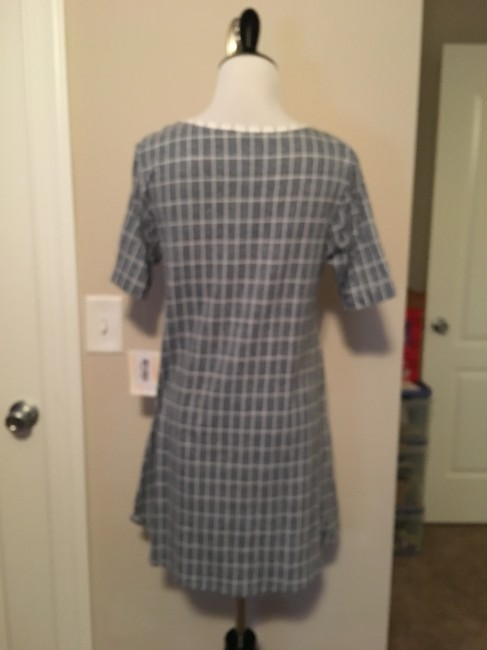 LuLaRoe Perfect T Top White and grey