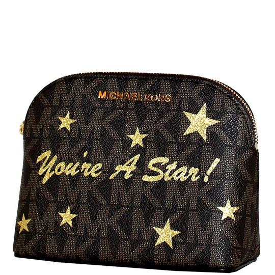 Preload https://item1.tradesy.com/images/michael-kors-signature-brown-women-s-cindy-travel-pouch-make-up-case-cosmetic-bag-23007500-0-0.jpg?width=440&height=440
