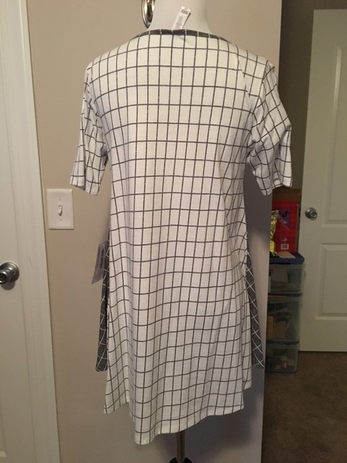 LuLaRoe Perfect T Top grey and cream