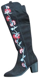 Carlos by Carlos Santana Embrodered Fabric black Boots
