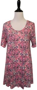 LuLaRoe Perfect T Top Pink and grey