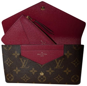 Louis Vuitton BRAND NEW Monogram and Fuchsia Jeanne Wallet with Inserts!