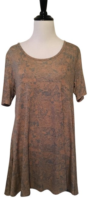 Item - Gold and Blue Perfect T Blouse Size 00 (XXS)