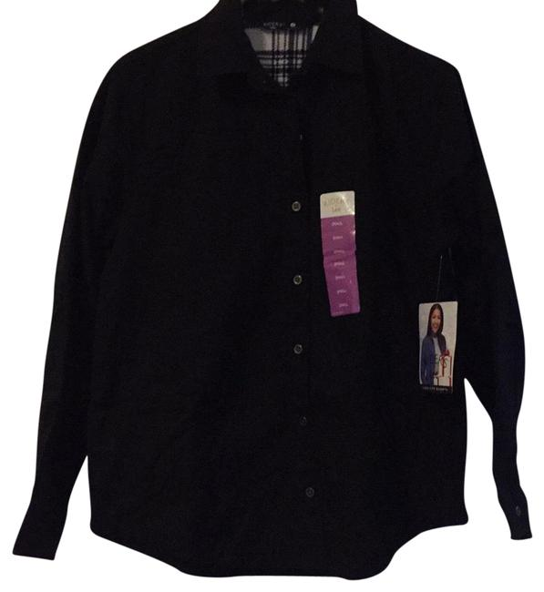 Preload https://img-static.tradesy.com/item/23007570/riders-by-lee-black-fleece-lined-button-up-button-down-top-size-4-s-0-1-650-650.jpg