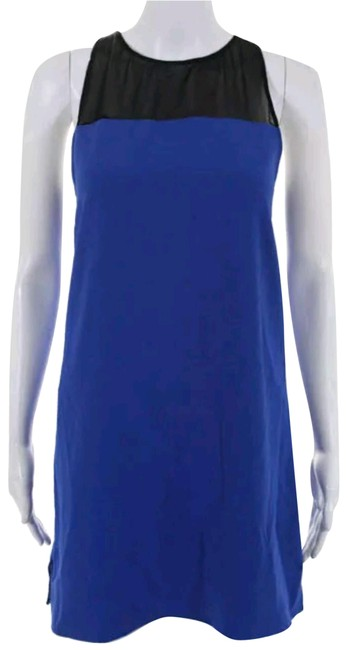 Preload https://item2.tradesy.com/images/parker-blue-and-black-new-sleeveless-above-knee-shift-short-casual-dress-size-4-s-23007591-0-1.jpg?width=400&height=650