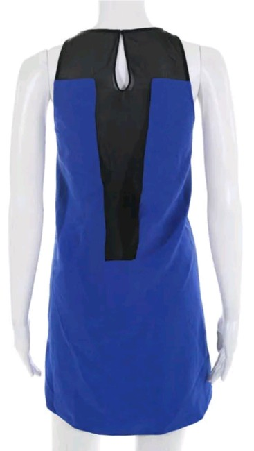 Parker short dress Blue and black Shift Gown Night Out Mesh on Tradesy