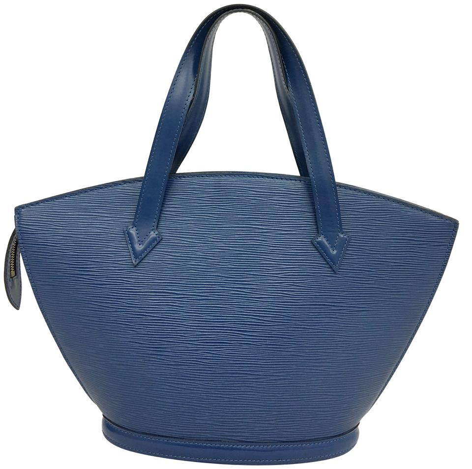e2f7962cffc3 Louis Vuitton Saint Jacques Leather Blue Epi Tote - Tradesy