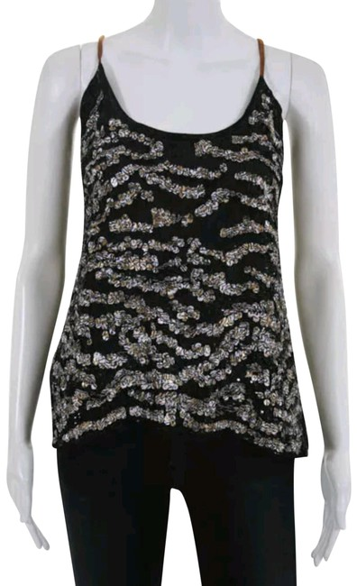 Preload https://item3.tradesy.com/images/mpatmos-black-and-gold-sequin-scoop-neck-spaghetti-strap-silk-blouse-night-out-top-size-12-l-23007632-0-1.jpg?width=400&height=650