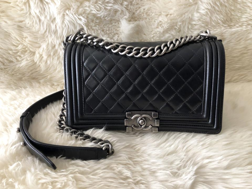 150a126045ff Chanel Classic Boy Quilted 2012 Old Medium Flap 10
