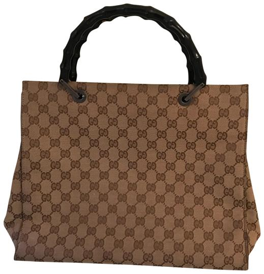 Preload https://img-static.tradesy.com/item/23007695/gucci-monogram-handles-are-black-the-rest-is-camel-and-brown-and-black-not-sure-tote-0-1-540-540.jpg