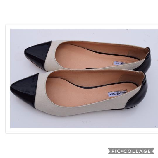 Marais USA off white & black Flats