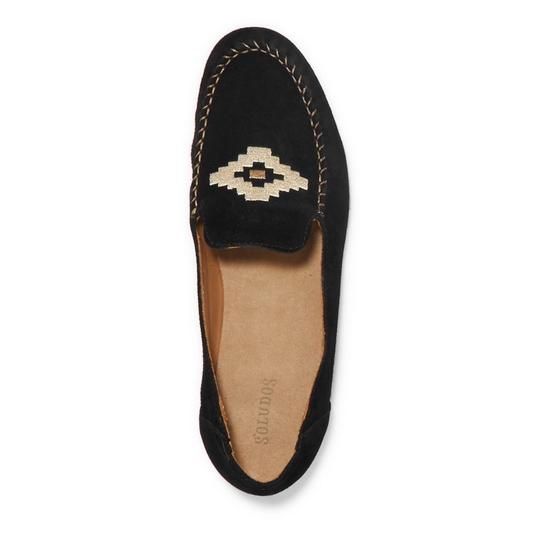 Preload https://item3.tradesy.com/images/soludos-black-embroidered-suede-leather-loafers-flats-size-us-8-regular-m-b-23007737-0-0.jpg?width=440&height=440