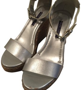Ralph Lauren Collection silver Wedges
