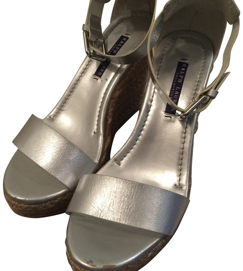 Preload https://item5.tradesy.com/images/ralph-lauren-collection-silver-leather-sandals-wedges-size-eu-395-approx-us-95-regular-m-b-23007739-0-1.jpg?width=440&height=440