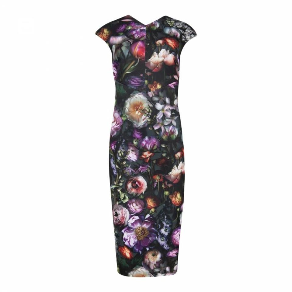 32a6a2542 Ted Baker Black Raisie Shadow Floral Bodycon Mid-length Night Out ...