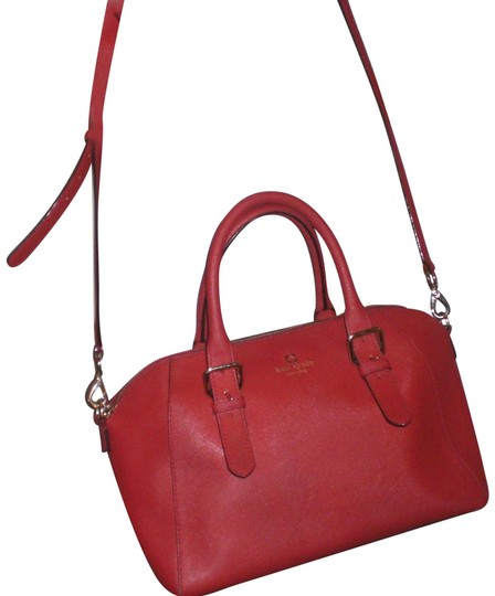 Preload https://item3.tradesy.com/images/kate-spade-top-zip-convertible-crossbody-handbag-purse-red-gold-hardware-leather-satchel-23007777-0-1.jpg?width=440&height=440
