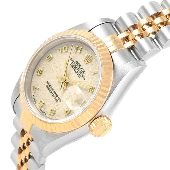 Rolex Rolex Datejust Steel Yellow Gold Ivory Jubilee Dial Ladies Watch 69173