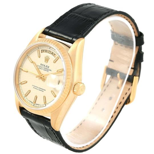 Rolex Rolex President Day-Date Yellow Gold Black Dial Mens Watch 18038