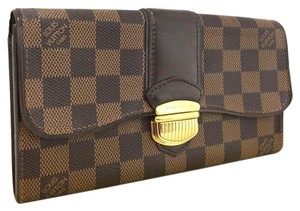 Louis Vuitton Authentic Louis Vuitton Damier Portefeiulle Sistina Long Bifold Wallet