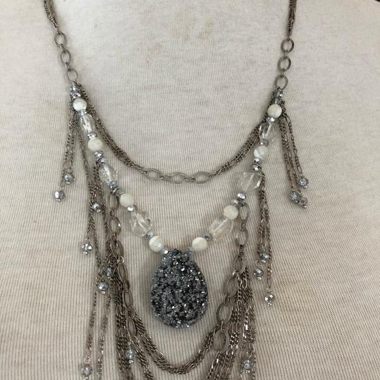 Chan Luu New Authentic Chan Luu Silver Agate Mix Fringe Pendant Necklace